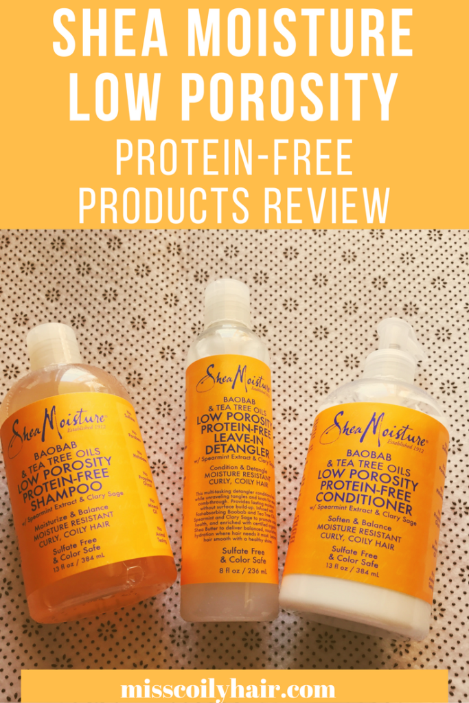 Shea Moisture low porosity line products review| misscoilyhair.com
