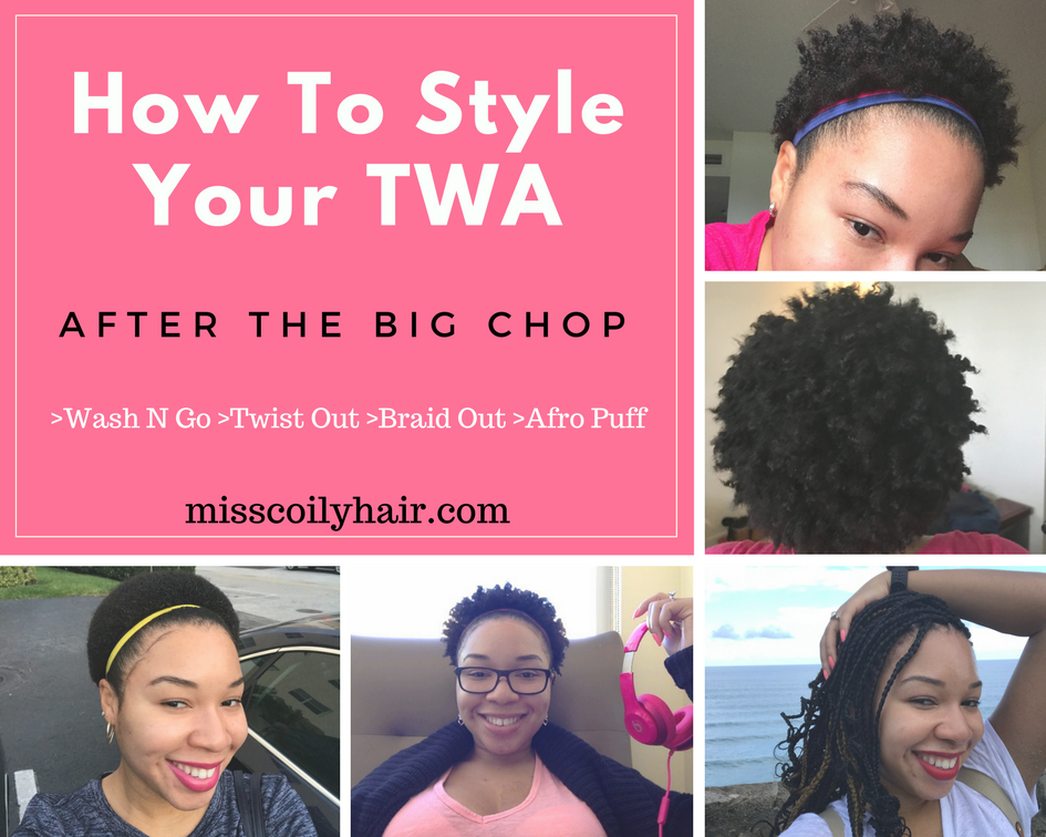 ways to style my hair how to style your twa after the big chop miss coily hair 3377 | How To Style Your TWA