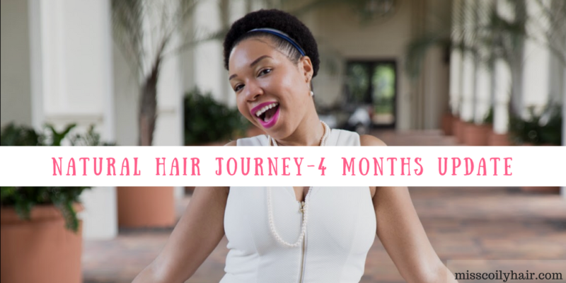 Natural Hair Journey- 4 Months Update