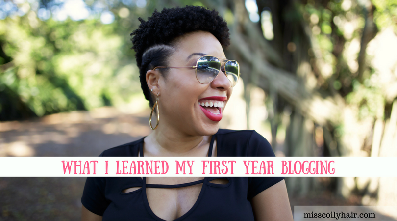 Miss Coily Hair Turns 1- What I Learned My First Year Blogging